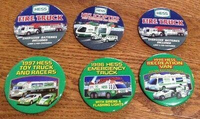 6 Unique Hess Toy Truck Buttons