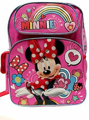 "Disney Minnie Mouse FullBody Minnie Girls 16"" Canvas Pink School Backpack"