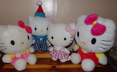 "Hello Kitty Plush Doll LOT OF 4 ~ Large 10.5"" - 13"" ~ Sanrio/Fiesta Toy"