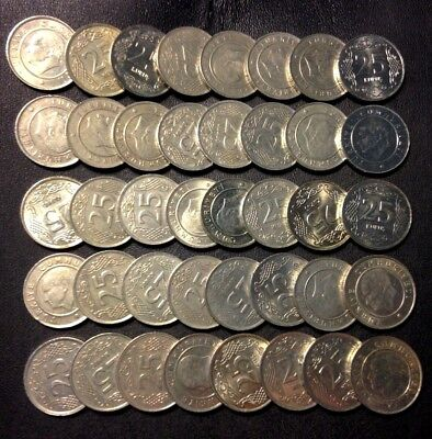 Old Turkey Coin Lot - 25 KURUS - 40 Excellent Coins - Lot #F16