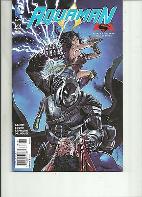 AQUAMAN  #50 BATMAN V SUPERMAN VARIANT COVER BVS  DC Comics 2016 1st Print NM