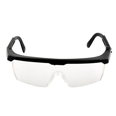 Useful Eye Protection Clear+Black Goggles Glasses From Lab Dust Anti Fog