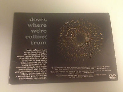 DOVES 2 x Flyers postcards Where We're Calling From + Some Cities LP CD 7 12