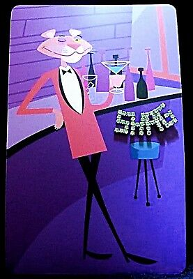 SHAG Rare 2005 40th Anniversary PINK PANTHER Card with SHAG Rhinestone Pin - NEW