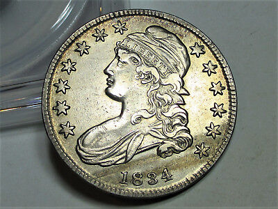 1834 CAPPED BUST HALF DOLLAR 50c **XF** BEAUTIFUL RARE US COIN.