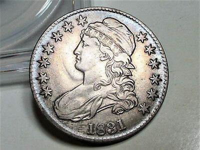 1831 CAPPED BUST HALF DOLLAR 50c **XF** BEAUTIFUL RARE US COIN.