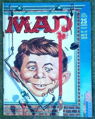 Mad Magazine #50 Oct 1959 SOLID FINE! 6.0 $0.99 Start! SHARP NICE-LOOKING Copy!