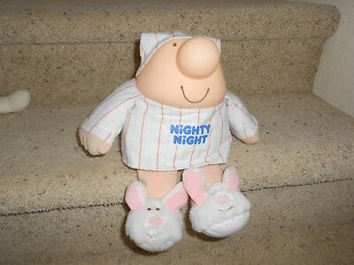 Ziggy Nighty Night BUNNY SLIPPERS Plush Vinyl Doll American Greetings EASTER
