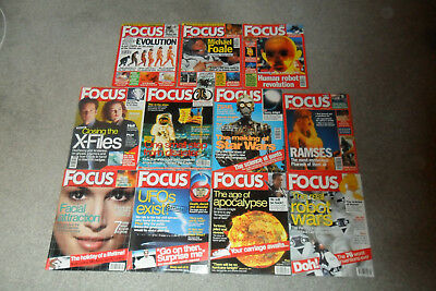 11 Issues Of BBC FOCUS Science Magazine From 1999