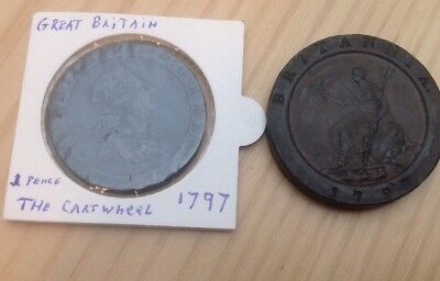 1797 A 1 Penny And 2 Penny's Cartwheel