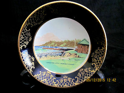 VINTAGE FALCON WARE SOUVENIR WARE-NORFOLK ISLAND-FROM PAINTING by WYNNE PERCIVAL