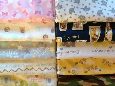 """SOFT FLANNEL 100% COTTON  RECEIVING BLANKETS Extra Large 40"""" x 40"""" New Handmade"""