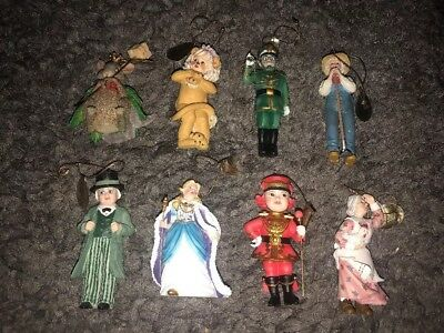 Vintage Wizard of Oz Collection - Heirloom Ornaments by Ashton Drake Lot of 8