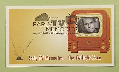 DR WHO 2009 FDC EARLY TV MEMORIES FLEETWOOD NORTH HOLLYWOOD CA b01396