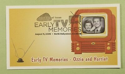 DR WHO 2009 FDC EARLY TV MEMORIES FLEETWOOD NORTH HOLLYWOOD CA b01398