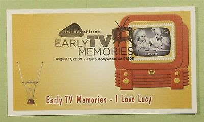 DR WHO 2009 FDC EARLY TV MEMORIES FLEETWOOD NORTH HOLLYWOOD CA b01413