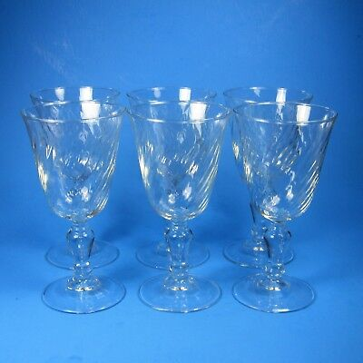Luminarc VOLUTE Water Goblets Set of 6 Clear Swirl Glass Goblet Cristal D'Arques