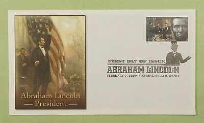DR WHO 2009 FDC ABRAHAM LINCOLN FLEETWOOD SPRINGFIELD IL b01442
