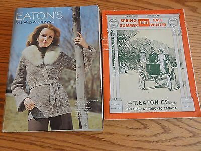 Fabulous Pair of Vintage EATON'S Toronto Catalogues Fall & Winter 1975 1970/1901