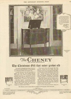 1924 Cheney Talking Machine Co Chicago IL-Sheraton-Buckinham Phonograph Ad