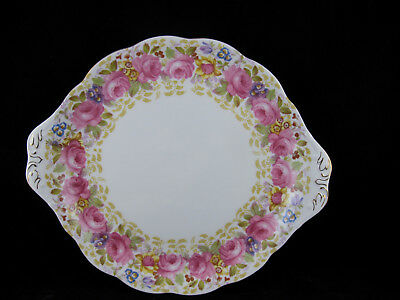 ROYAL ALBERT SERENA CAKE PLATE 1940's EXCELLENT CONDITION