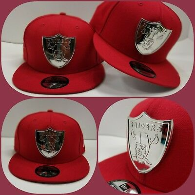 info for 316ea 888f5 ... coupon for new era nfl oakland raiders silver metal logo 9fifty  snapback hat red b3d02 ab950