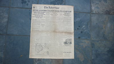 Wwii Australian Military Newspaper, The Advertiser, 1945 Battle Of Germany