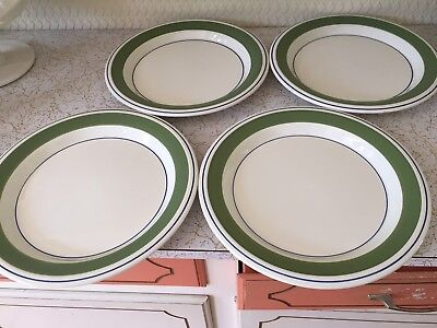 ARABIA FINLAND - SET of FOUR DINNER PLATES - KROKUS -VERY GOOD CONDITION