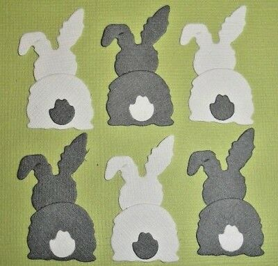 12 Back Of The Bunny Die Cuts Scrapbooking Embellishments Fully Assembled Easter