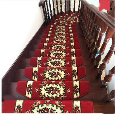 D30 5PCS Household Skid Resistance Step Rug Stair Tread Mat Carpet 75X24CM Z
