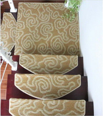 D45 Skid Resistance Household 5PCS Step Rug Stair Tread Mat Carpet 75X24CM Z