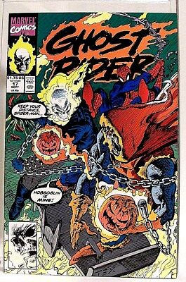 """""""GHOST RIDER"""" Issue # 17 (Sept, 1991) Comic Book (Marvel Comics) f. SPIDER-MAN"""