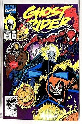 """""""GHOST RIDER"""" Issue # 16 (Aug, 1991) Comic Book (Marvel Comics) f. SPIDER-MAN"""