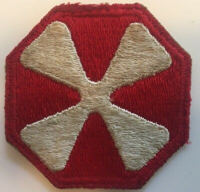 8th US Army original 1940s fully embroidered Patch OFF UNIFORM