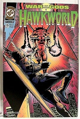 """HAWKWORLD"" Issue # 15 (Sept, 1991) DC Comics/ Comic Book (HAWKMAN Spin-Off)"