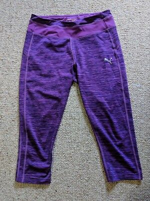 Puma leggings Size XS (approx size 6 Aus) purple