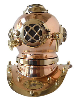Vintage Solid Brass Nautical Deep Sea Mini Diving Helmet Reproduction Mark Iv