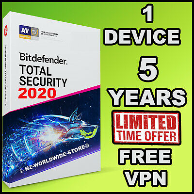 Bitdefender Total Security 2018 - 5 YEARS Activation 1 PC  - Download