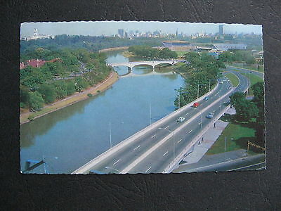 South Eastern Freeway NOW CITY LINK  Yarra River Melbourne Victoria 196os