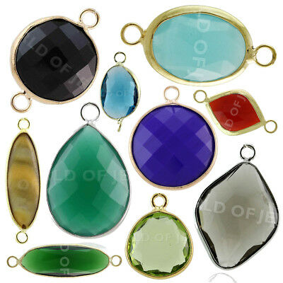 STOCK 50 PEZZI Cabochon Di Cristallo Forme Miste Casuali World of Jewel