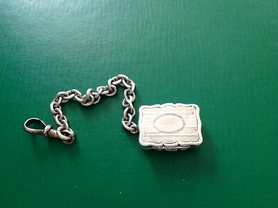 Victorian Antique English Sterling Silver Vinaigrette Thornton 1872