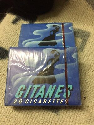 2 Anciens Paquets De Cigarettes Gitanes Plein Collection Vendu En Lot