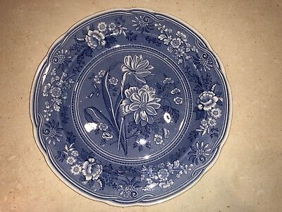 Spode Plate - Blue Room Collection - 'Botanical'