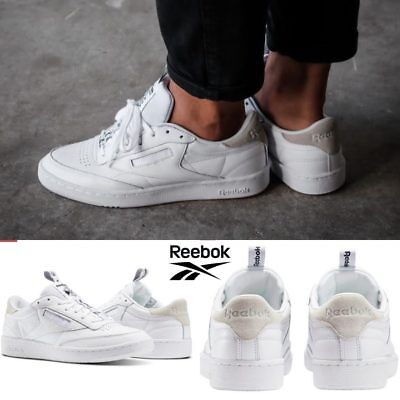 WOMENS REEBOK CLASSIC Club C 85 Vintage Off White Leather