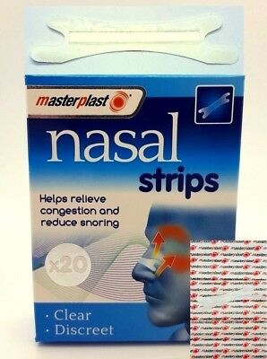 New 20 NASAL STRIPS NOSE REG LARGE ANTI SNORING AID TO STOP SNORING