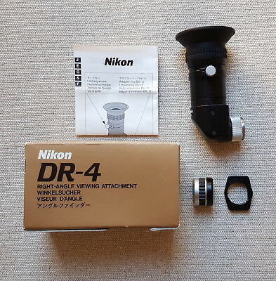 Nikon DR-4 right-angle viewfinder + DK-12 & DK-22 adapters + Free UK postage
