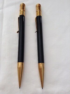 lot of 2 vintage mechanical pencils , bakelite and brass
