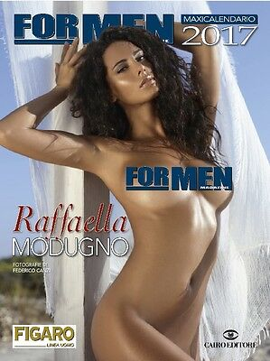 RAFFAELLA MODUGNO maxi calendario sexy 2017 by For Men Magazine