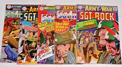 Our Army At War comic lot  #162,178,183.185,200  SGT. Rock