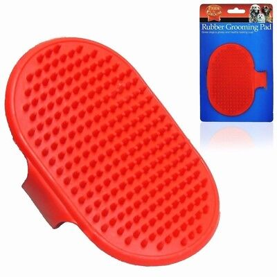 New Rubber Grooming Brush Cat Dog Soft Pad With Strap Glossy Coat Comb Massage